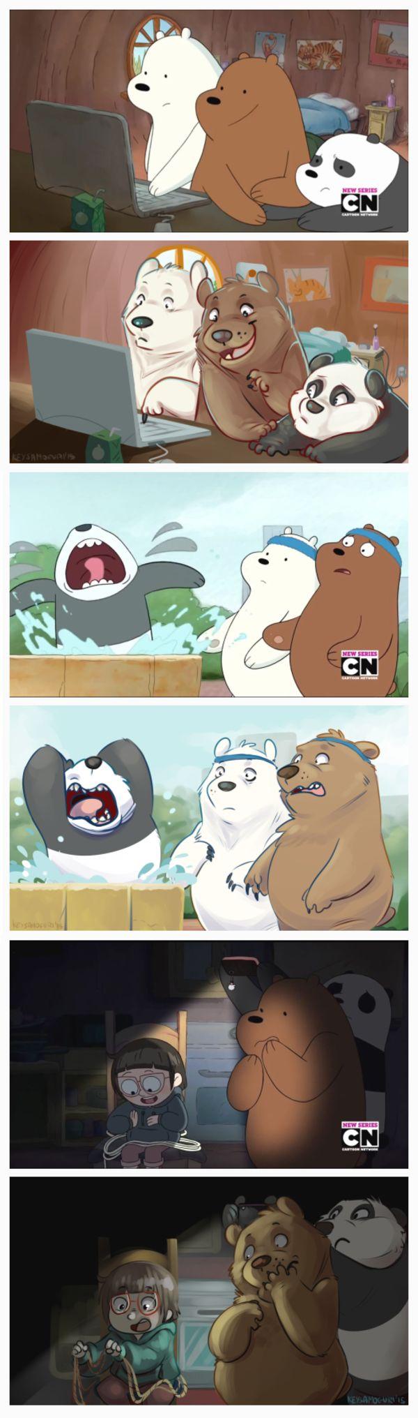 Redrawn screenshots | We Bare Bears | Know Your Meme