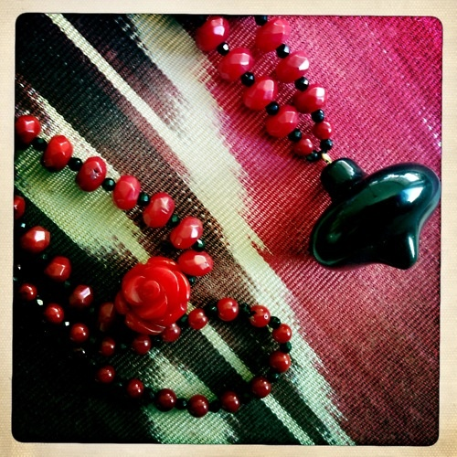 """""""Red Rose"""" Necklace  """"Penelope"""" Necklace"""