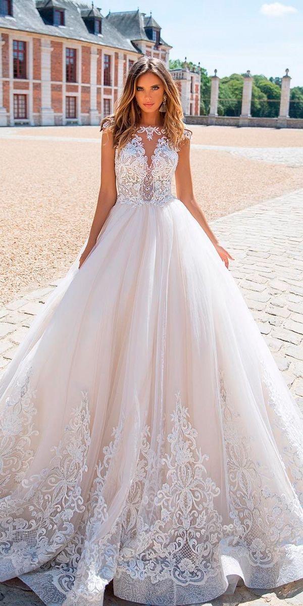 24 Amazing Milla Nova Wedding Dresses ❤ milla nova wedding dresses lace bateau neckline cap sleeves ball gown ❤ See more: http://www.weddingforward.com/milla-nova-wedding-dresses/ #weddingforward #wedding #bride