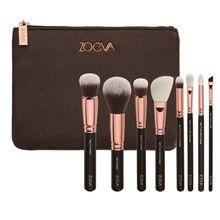 Zoeva Rose - ouro pincéis de maquiagem 8 pcs rosto olhos ferramentas de cosméticos com cerdas macias alishoppbrasil