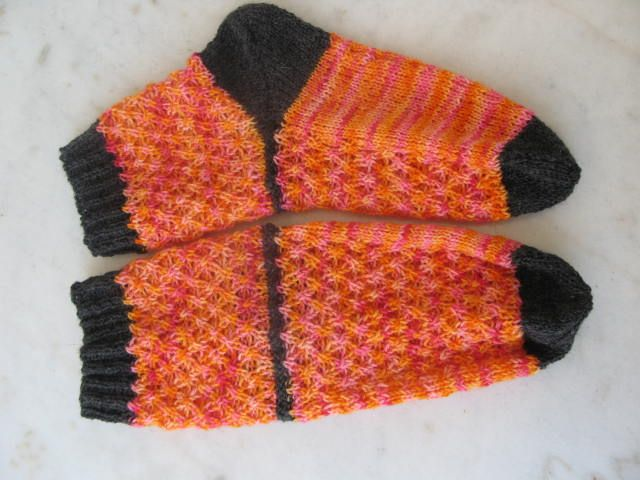 Socks worked with 2 colors