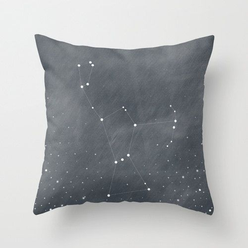 Orion Constellation Stars Dark Grey Blue Home Decor Throw Pillow Cover Decorative Pillow Cover Stars Decor
