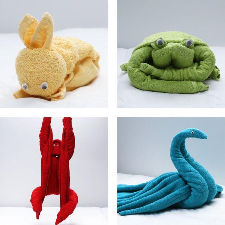 Übernachtungsgäste? Lassen Sie sie eine nette Überraschung mit diesen 4 kuscheligen Handtuch-Tieren