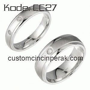 Sterling Silver Couple Rings CC27  #silverring #fashion #jewelry #sterlingsilver For futher information, please contact us at hubungidisini@gmail.com