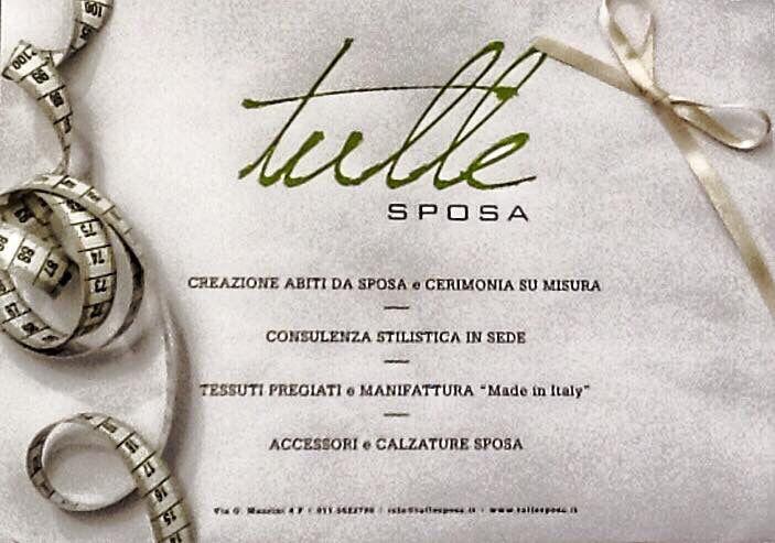Tulle Sposa Torino sartoria italiana dal 1993