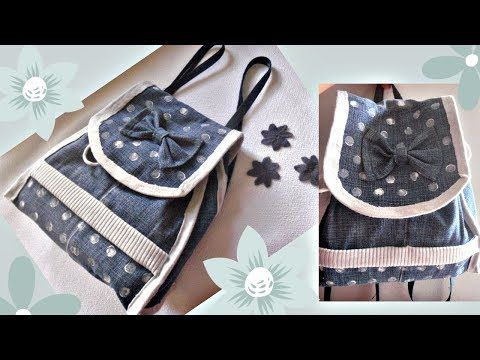 DIY BACKPACK TUTORIAL WITH POCKET DESIGN FROM SCRATCH STEP BY STEP - YouTube