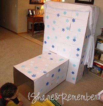 make your own cardboard igloo