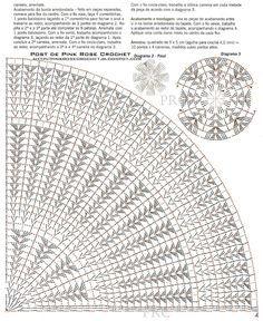 Resultado de imagem para grafico de como fazer flor de croche
