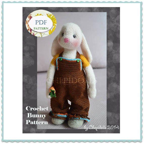 PATTERN Crochet Bunny Pattern Instand Download by chepidolls