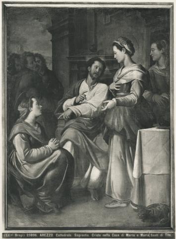 Brogi , Arezzo. Cattedrale. Sagrestia. Cristo nella Casa di Marta e Maria. Santi di Tito. - insieme