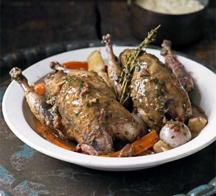 A true autumnal treat, this pot roast works equally well with partridge, guinea fowl or chicken