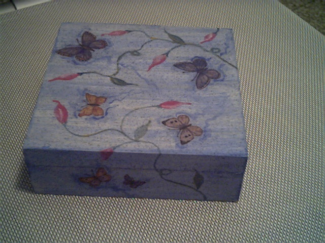 painted wood box