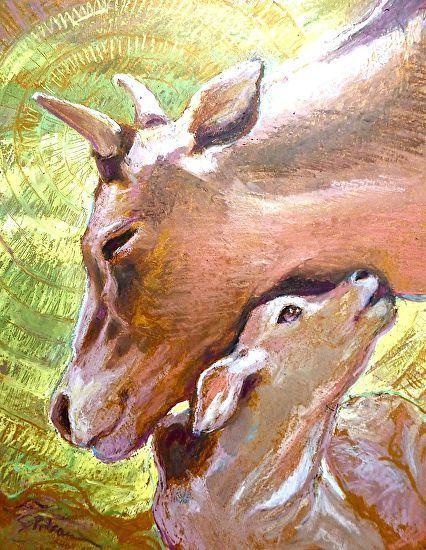 Loving by Susan Pitcairn Oil Pastel ~ 20 x 16