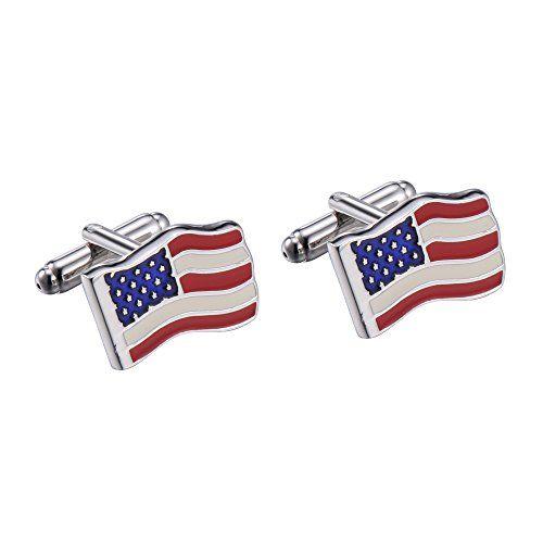 R&B Bijoux - Boutons de Manchette Homme - Forme Rectangulaire Drapeau Américain USA États-Unis - Acier Inoxydable (Argent, Bleu, Rouge, Blanc) R&B Bijoux http://www.amazon.fr/dp/B00QF8DF2Q/ref=cm_sw_r_pi_dp_eXRFub0HZGMQ9