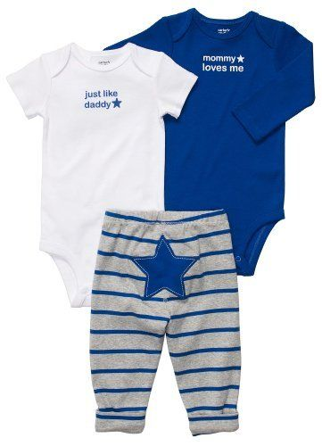 Carter's Baby Boys 3-Piece Bodysuit Set Carter's $20