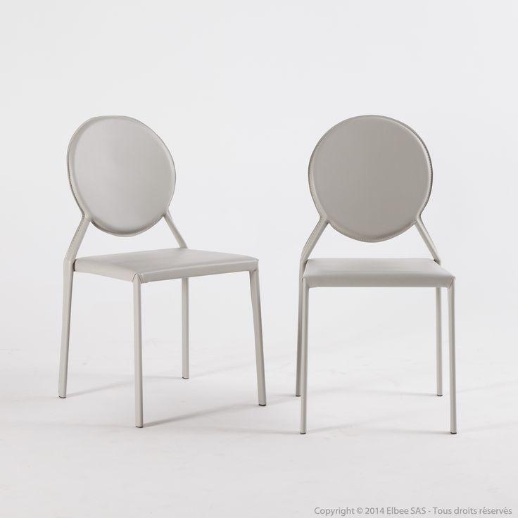 Chaise médaillon en tissu PVC revisitée - Lot de 2 PENELOPE