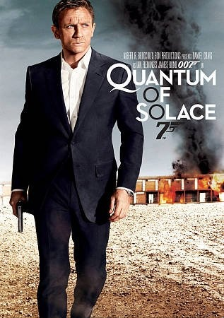 Quantum of Solace [PN1997.2 .Q36 2009] James Bond descends into mystery as he tries to stop a mysterious organization from eliminating a country's most valuable resource. All the while, he still tries to seek revenge over the death of his love. Director:Marc Forster Writers:Paul Haggis, Neal Purvis, Stars:Daniel Craig, Olga Kurylenko, Mathieu Amalric