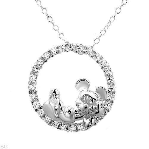 Disney Mickey Mouse Necklace in Silver