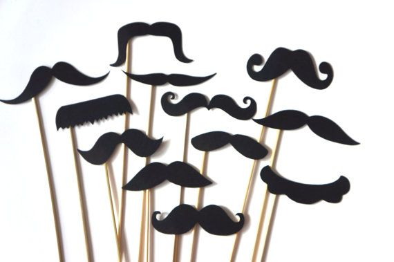 Funny Photo Booth Props  Set of 12 BLACK van TheManicMoose op Etsy, $12.00