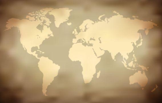 Adesivo Mapa Mundi Antigo