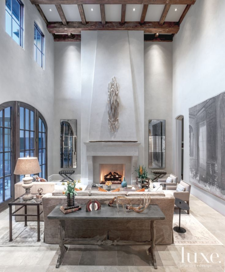 A focal point of the family room is the dramatic large scale fireplace which protrudes from the - The house with protruding windows ...