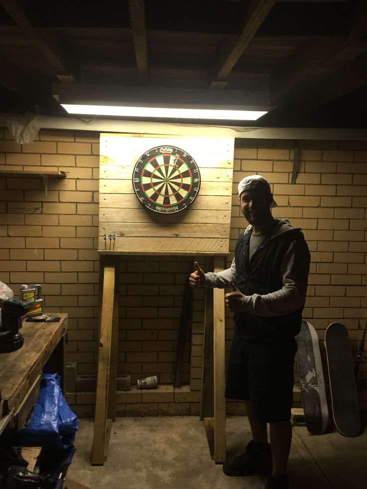 Stand Board Designs : Free standing dart board stand quot raw my projects