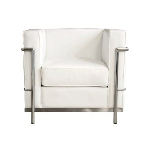$379: Corbusier Style, Le Corbusier, Chairs, Corbusier Petite, Living Room, White Leather, Furniture