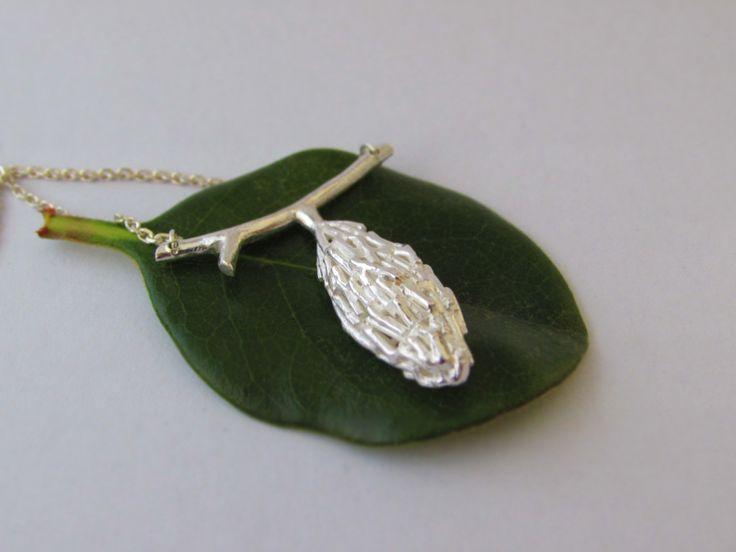 Bagworm Motif Pendant Sterling Silver