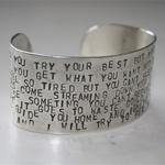 Smycken - handgjorda silversmycken textsmycken smycke silver unikt personligt