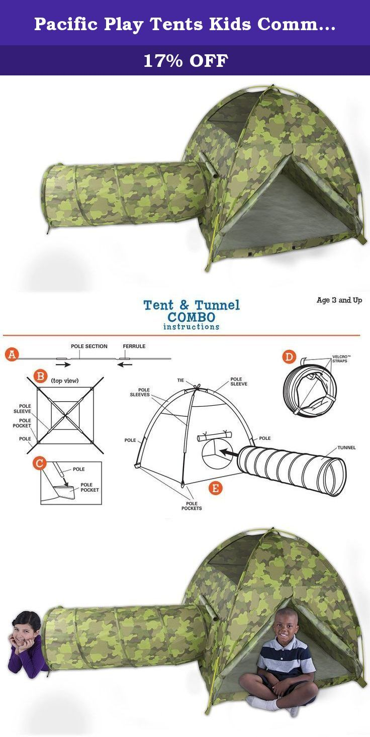 Pacific Play Tents Kids Command HQ Dome Tent u0026 Crawl Tunnel Combo for Indoor / Outdoor  sc 1 st  Pinterest & 326 best Play Tents u0026 Tunnels Sports u0026 Outdoor Play Toys u0026 Games ...