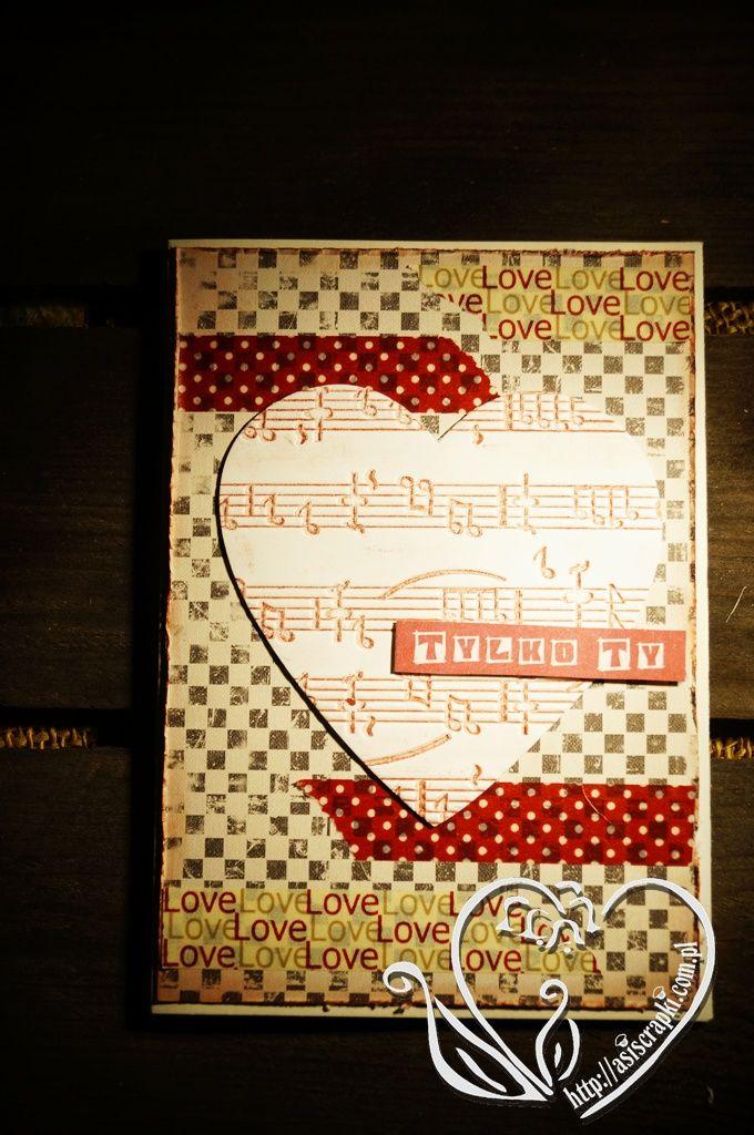 Muzyczne walentynki #asiscrapki #valentinecards