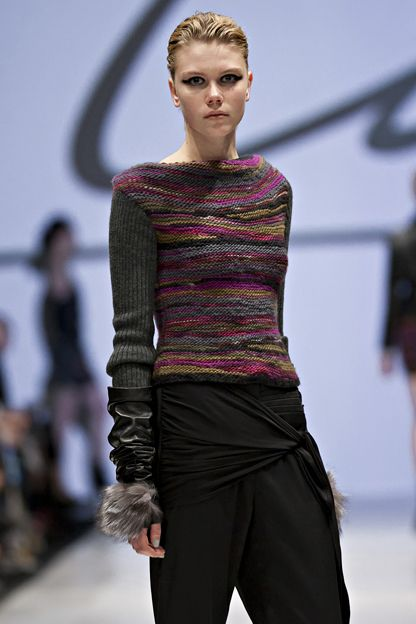 Line fall/winter 2012  ~  this is stunning with the short row work featured but also love the colour selections