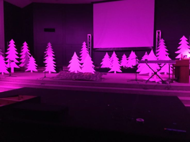 Chris Campbell (lighting and layout) and Chris Morgan (design and concept) fromCalvary Christian Church inWinchester, KY bring us these awesome foam Christmas trees. From Chris and Chris: Things we didn't have on hand: Foam insulation board (tree cutouts) Lights for trees (monthly rental) Wax paper (DIY Diffuser) Some 2x4 cut down to use for mounts Some 1x2 furring strips (supports for the tall trees) Some L-shaped Corner Braces Adhesive Spray Not including the cost of renting the LED p...