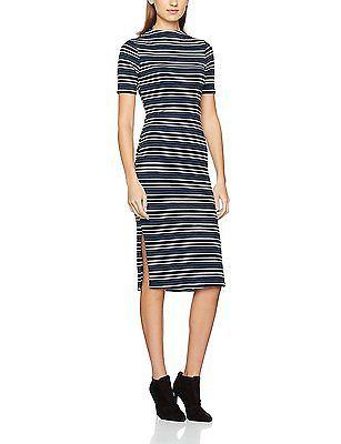46, Multicoloured (Navy Stripe), Mia & Mimi Women's Giselle Dress NEW