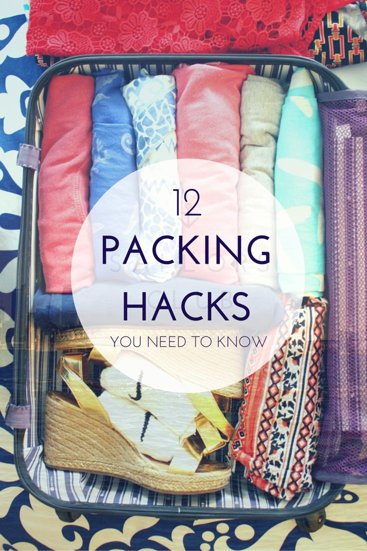 Learn how to prevent shampoo bottle spills, wrinkled shirts and tangled jewelry. Here are 12 easy and genius packing hacks and tips to know before your trip.