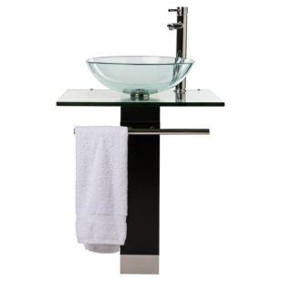 Sensi dacqua kit vanitorio cristal con lavatorio new key for Llave lavamanos sodimac