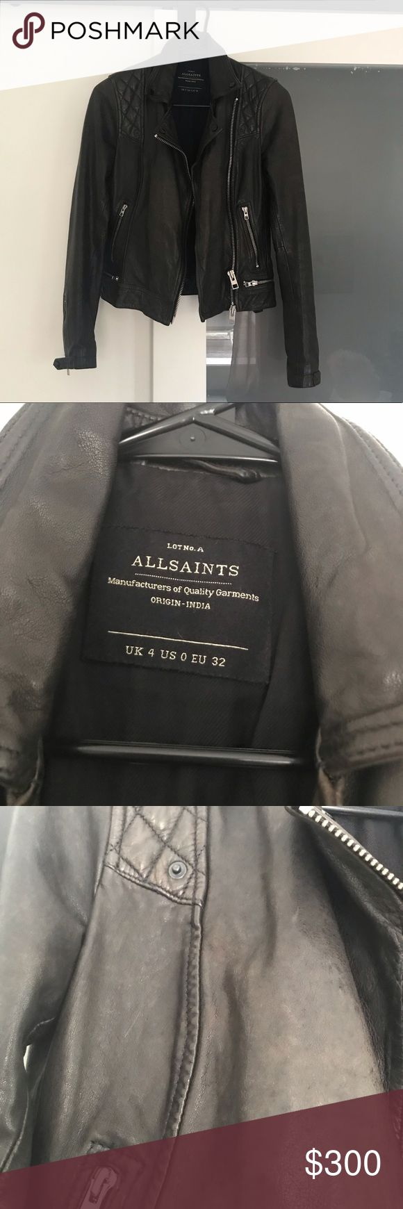 All Saints Leder Motorradjacke All Saints Leder Motorradjacke. In perfekter …   – My Posh Picks
