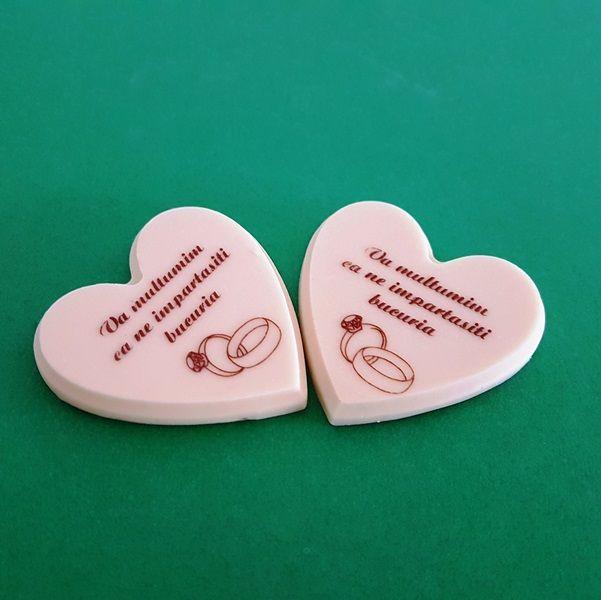 marturii inimi,din ciocolata personalizata, by ChocoGift