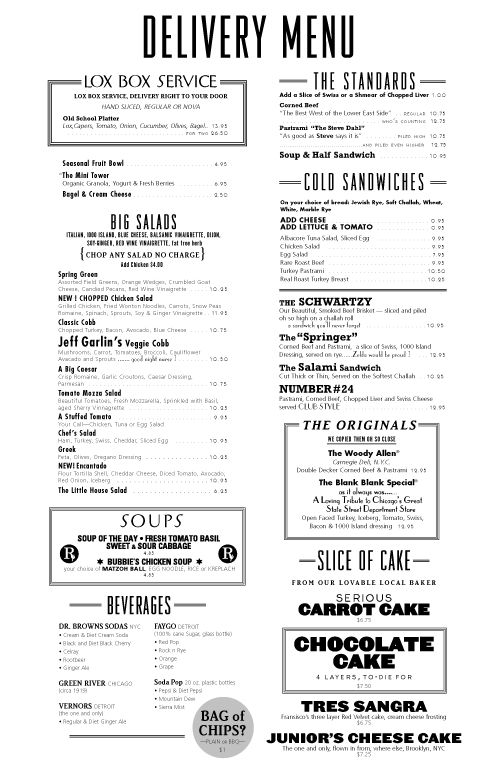 interesting menu designs