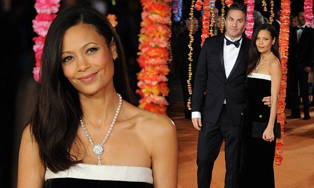 Thandie Newton supports husband at Second Best Exotic Marigold Hotel