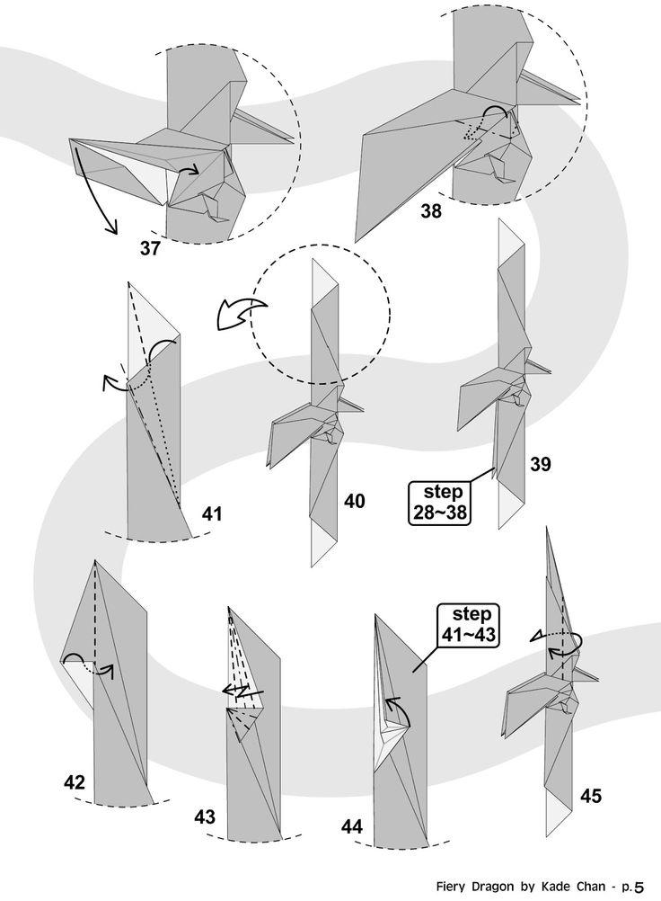origami dragon folding instructions