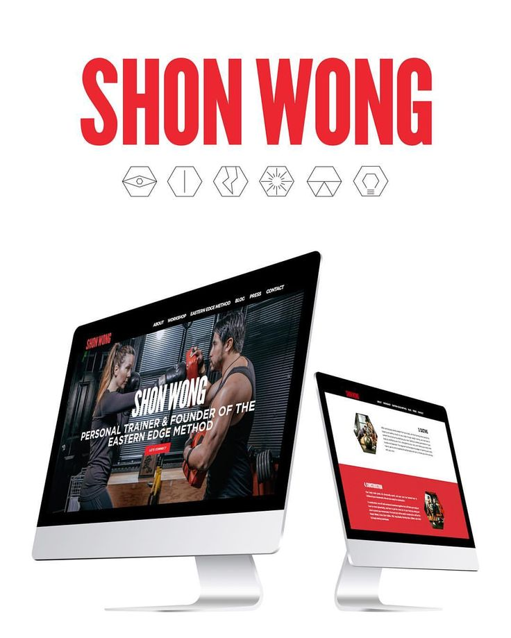Website and branding design for personal trainer Shon Wong by Loki Creative.
