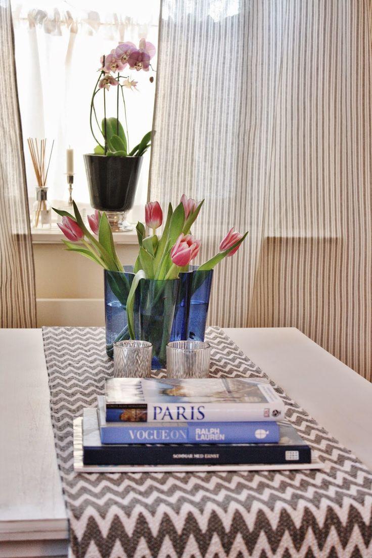 Coffee table, Alvar Aalto, blue livingroom, cevron