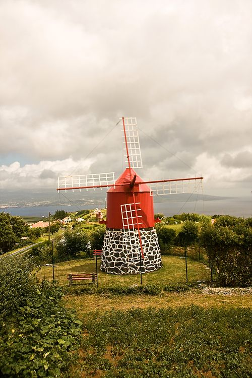 Moinho, Windmill in Azores, Portugal
