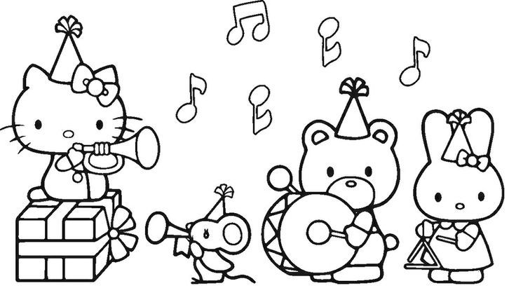 128 best Hello Kitty images on Pinterest | Patrones, Colorear y ...