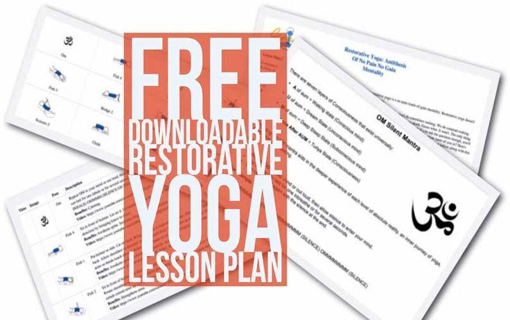 Free Downloadable Restorative Yoga Lesson Plan (PDF)