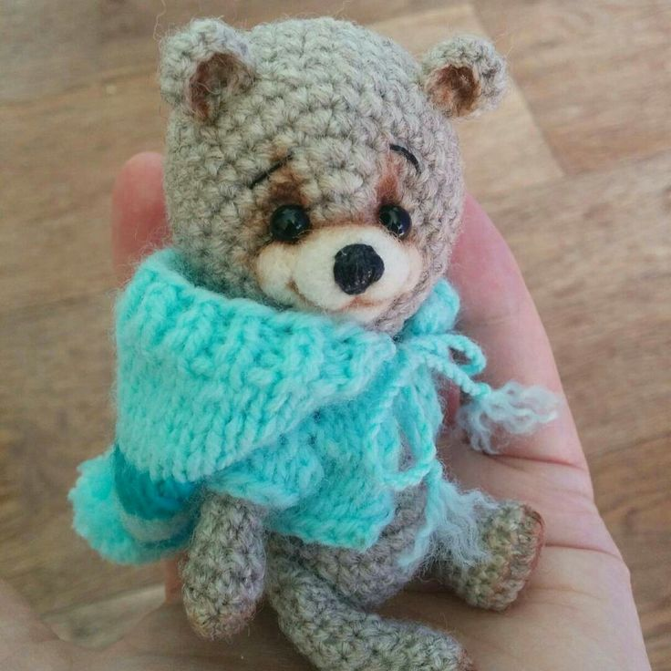 Crochet teddy by Zanina Julia (za_nusha). Вязаный мишка от Занина Юлия (za_nusha). Made with love. Mini bear. Mini toy. Teddy  #teddy #crochet #amigurumi #crochettoy #za_nusha #zanina #present  #mini #minitoy #minitoys #подарок #амигуруми #мишка #медведь #подарокребенку #ребенок #handmade #ручнаяработа  For the purchase contact:  https://www.instagram.com/za_nusha  https://vk.com/id22478127