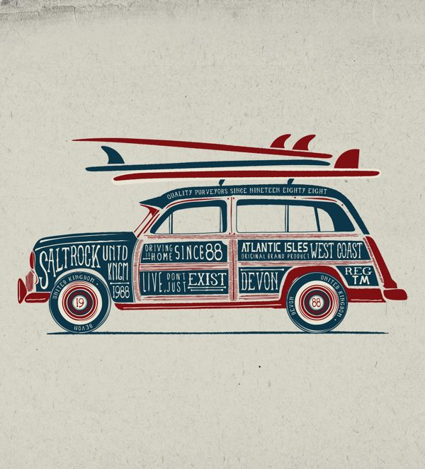 Vintage graphics No.2 by Neil Beech, via Behance. AWSM graphics