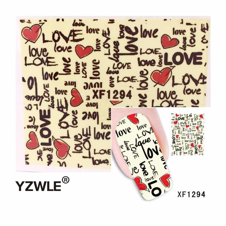 [Visit to Buy] YZWLE Fashion Japan Style Colorful LOVE Design DIY Watermark E Nail Art Sticker, Water Transfer #Advertisement
