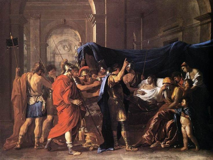 The Death of Germanicus by Nicolas Poussin.